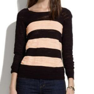 Madewell Wide Striped Lightweight Sweater Pullover